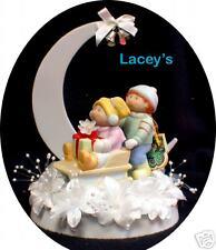 Winter Wonderland Sliding Cabbage Patch Figure Dolls Wedding Cake Topper Top