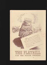 The Two Mrs Carrolls Playbill April 30 1944 Elisabeth Bergner Victor Jory