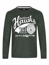 New Riot Club England Boys Hawks Green T-Shirt Long Sleeve Ages 8 - 14 Free P+P