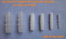 * Recto * Plástico De Púas Conector Tubo Manguera Carpintero Tubo Accesorios