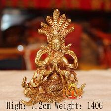 Tibet Tibetan Buddha Buddhist Copper Gild  Dragon King Handmade Statue