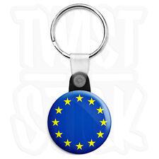 EU European Union Flag - 25mm Europe Keyring Button Badge with Zip Pull Option