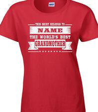 Abuela mujer camiseta personalizada Mejor Abuela Nan relativa Familia Regalo