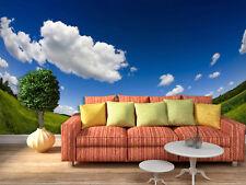 3D Blauer Himmel, Grüne erde  Fototapeten Wandbild Fototapete BildTapete Familie
