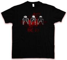 SHY SKULLS HC HATE COUTURE T-SHIRT See Hear Speak No Mafia Mob Skeletons Shirt