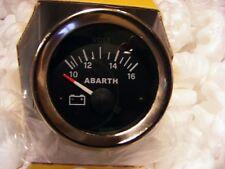 FIAT 500 F/L/R VOLTOMETRO ABARTH STRUMENTO DI BORDO CRUSCOTTO DA 52 FONDO NERO