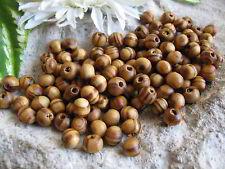 100, 200 oder 400 Holzperlen naturfarben braun  6mm, Schmuck Perlen basteln Holz