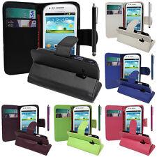 Schutz Hülle für Samsung Galaxy S3 Mini i8190 Handy Brieftasche Flip Case Cover