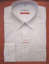 Herren-Hemd uni langarm MARVELIS 100% Baumwolle bügelfrei