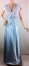 New Womens Jovani  Evening Gown Light Blue Lace Fringed V-Neck Dress Size 16
