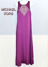 Michael Kors Womens MAXI Long Dress Beaded Top Small Medium NWT $200 50% Sale!