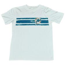 NFL Miami Dolphins Pinne Vintage Logo a Righe Invecchiato Ragazzi T-Shirt DK2502