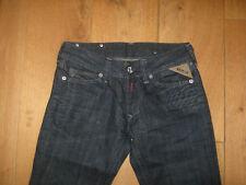 Replay Skinny Indigo Blau Jeans Funky Reißverschluss Taschen 25 Taille NEU