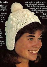 COZY Winter Adult's Fisherman's Hat/Apparel/ Crochet Pattern Instructions