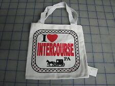 lot o 10 I love intercourse PA bag decorative souvenir novelty Amish buggy 5 x 5