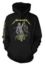 Metallica Spiked Logo Felpa con Cappuccio Nero