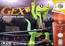 ***GEX 3: DEEP COVER GECKO N64 NINTENDO 64 GAME COSMETIC WEAR~~~