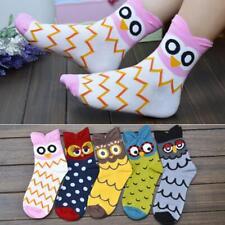 Women Sports Cartoon Owl Socks Winter Warm Animal Print Cotton