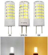 G4/G8/GY6.35 LED Bulb 64-2835 SMD Lamp 12V/110V/220V Ceramics Lights White/Warm
