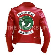 Riverdale Southside Serpents Gang Womens Jacket Jughead Jones Cole Sprouse Biker