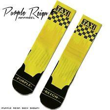 NIKE AIR JORDAN RETRO 12 XII TAXI Custom Premium Socks (ALL SZ) Dope GOLDEN