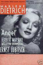 Angel Marlene Dietrich vintage movie poster