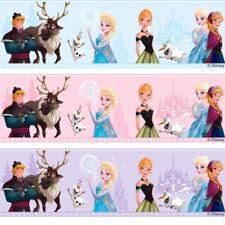 OFFICIAL PINK DISNEY FROZEN ELSA ANNA SNOWFLAKE MOVIE WALLPAPER BORDER FR3503-2