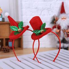 Christmas Headband Santa Xmas Party Decor Double Hair Band Clasp Head Hoop Decor