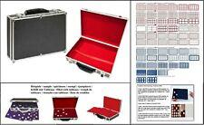 SAFE 269-9-0 ALU großer Münzkoffer BLACK & Münztableaus in blau rot dunkelrot