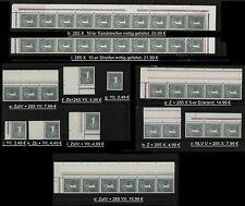 BRD 285 X & Y, Einheiten Raender Topmarken postfrisch bitte auswaehlen! #x285-1