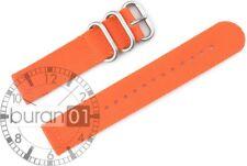 Uhrenarmband Wasserfest NYLON CUT Militär Strong orange 18mm,20mm,22mm,24mm 26mm