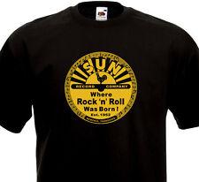 T-shirt SUN Record - Where Rock'n'Roll Was Born ! Memphis Tennessee Rockabilly