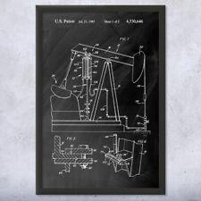 Framed Oil Well Pump Jack Art Print Gift Oil Well Patent Pump Jack Patent