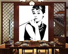 3D Audrey Hepburn Sexy Painting Wall Paper Wall Print Decal Wall AJ WALLPAPER CA