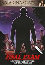 Final Exam (DVD, 2011) Rare Horror Cult Slasher Scorpion