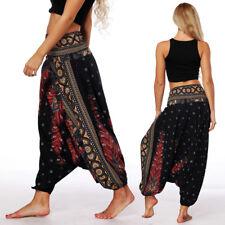 Women Baggy Harem Pants BOHO BOHEMIAN Hippie Wide Gypsy Yoga Palazzo Trousers C0