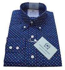 Relco Mens PLATINUM COLLECTION Diamond Print Shirt Long Sleeve Mod Retro Vtg