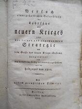 Bülow - Lehrsätze des neuern Krieges u. Strategie  1805