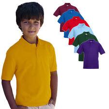 Fruit of the Loom Kinder 65 / 35 Polo Shirt 104-164 Neu