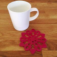 Snowflake Shaped Coaster Set - Pink