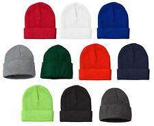 "NEW MADE IN USA Acrylic Knit 12"" Winter Ski Hat, Boarding Cap, Sport Work Beanie"