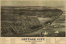Poster, Many Sizes; Map Of Cottage City Marthas Vineyard 1890