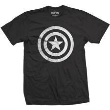 NEW Marvel Comics Men's Tee: Captain America Civil War Basic Shield Distressed
