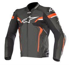 Chaqueta Alpinestars Celer V2-Negro/BLANCO/ROJO FLUO Cuero Moto Chaqueta ZQ