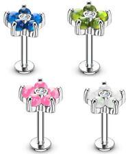Tragus Piercing - Labret Circonia Pendiente De Oreja flores Ópalo hélice #578