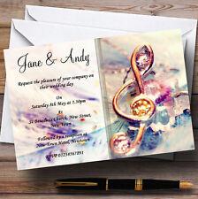 Music Treble Clef Personalised Wedding Invitations