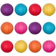 Mixed New Round Paper Lantern(Red+Yellow+Hot Pink+Purple+Dark Blue+Orange)