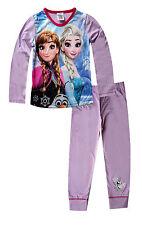 Disney Niñas De Ana Elsa Congelados Estampado Largo Pijama Edad 4 a 10 años