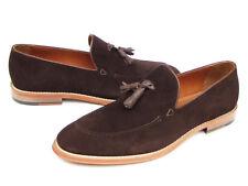 Paul Parkman Men's Tassel Loafer Brown Suede Shoes (ID#087-BRW)
