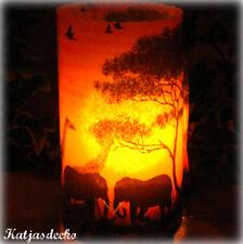 Lanterna a Vento decorazione tavolo decorazione AFRICA elefante giraffa savana